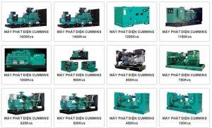 Máy phát điện Cummins giá rẻ đa dạng công suất